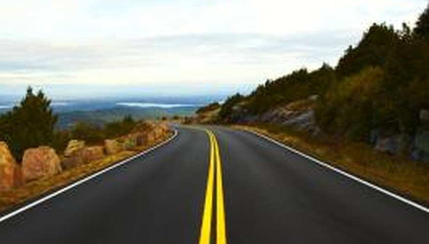 Notice how the road narrows as it moves toward the horizon.
