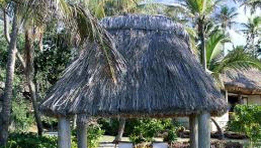 Palm leaves make your tiki hut feel more like the real thing.