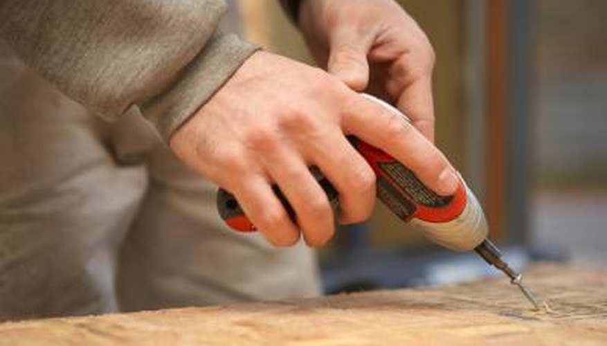 Get the job done faster by using a cordless screwdriver.