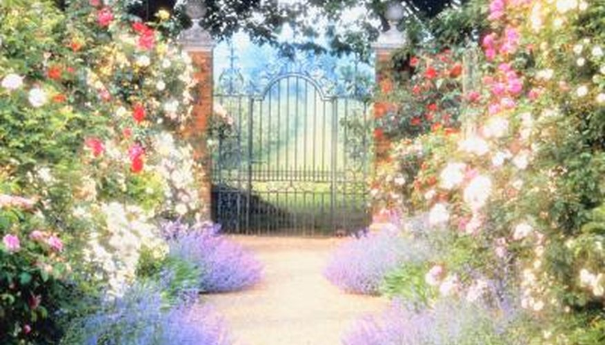 Sliding gates are decorative and functional.