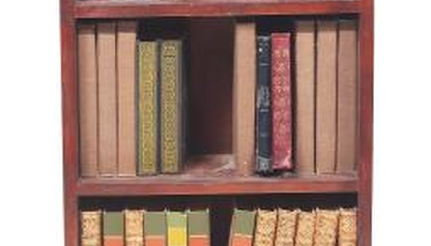 The design of some bookcases may prevent flush positioning.