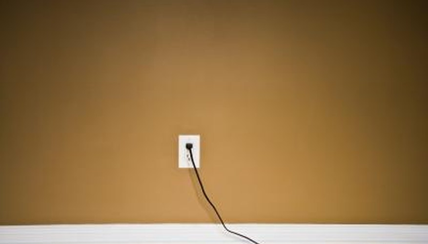 Electrical cord in socket.