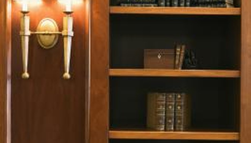 Adding bookcase panels helps preserve and protect your book collection.