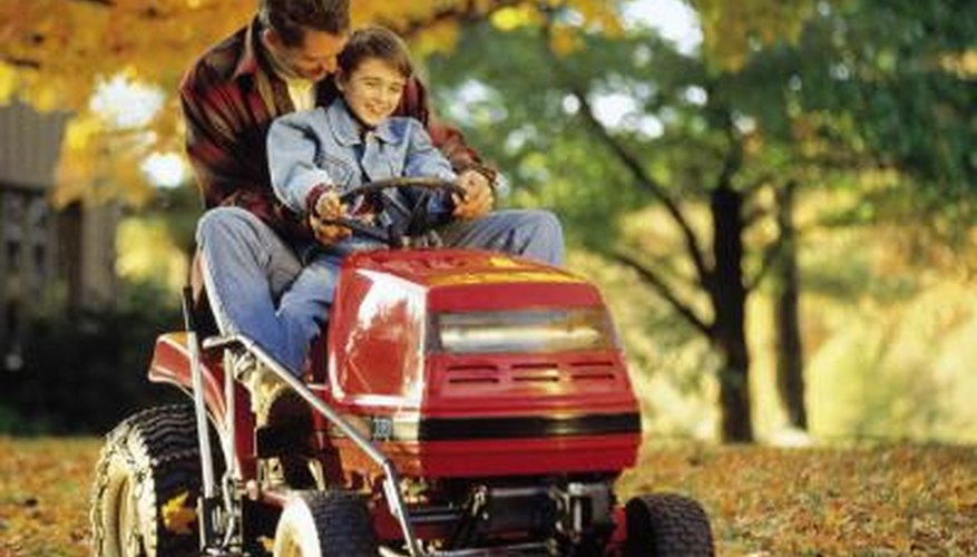 An electric clutch engages the blades on your riding lawnmower.