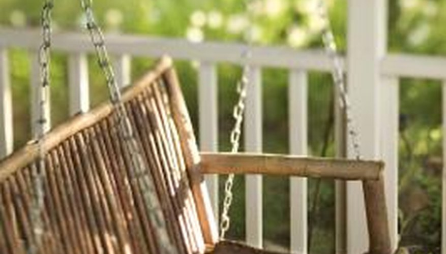 A swing adds a homey touch to your front porch.
