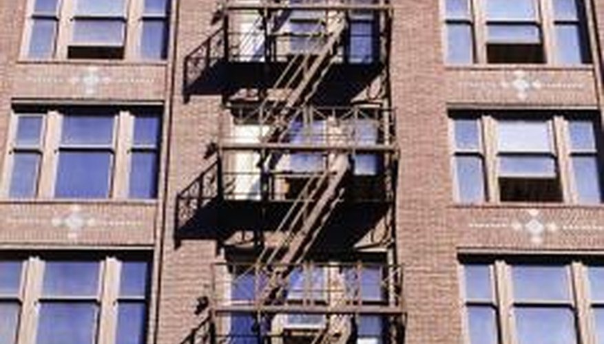 Residential apartment buildings need multiple egress routes.
