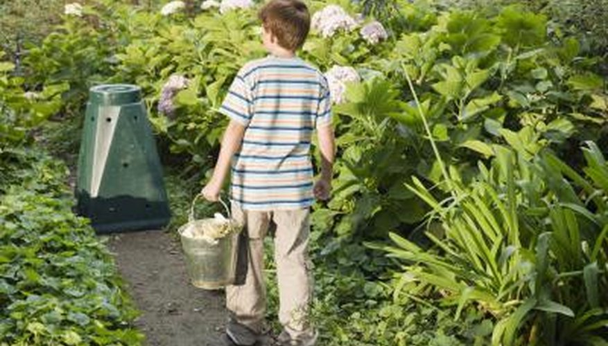 Many gardeners teach their children how to compost kitchen scraps.