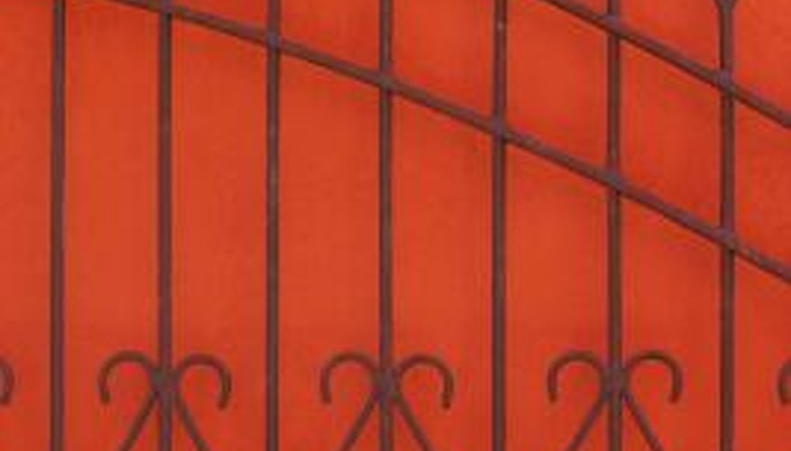 Standard sizes of tubular steel are used to make gates.