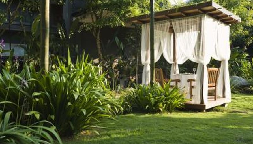 Toss out the umbrellas and move your chairs under a pergola for shade.