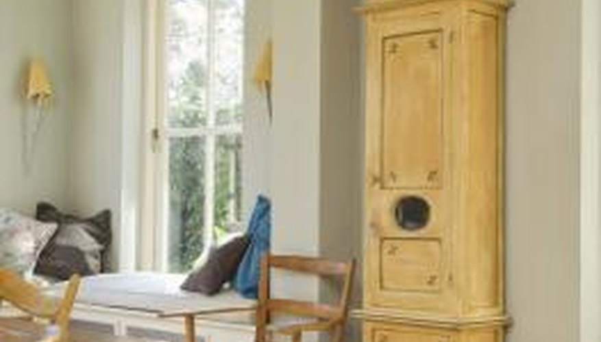 Grandfather clocks are often found in the main rooms of homes.