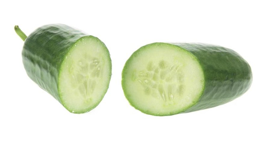 Tender, burpless Lebanese cucumbers are eaten fresh.