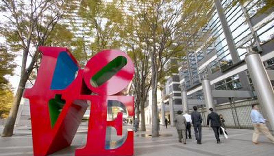 Philly's LOVE Park is home to the city's landmark sculpture.