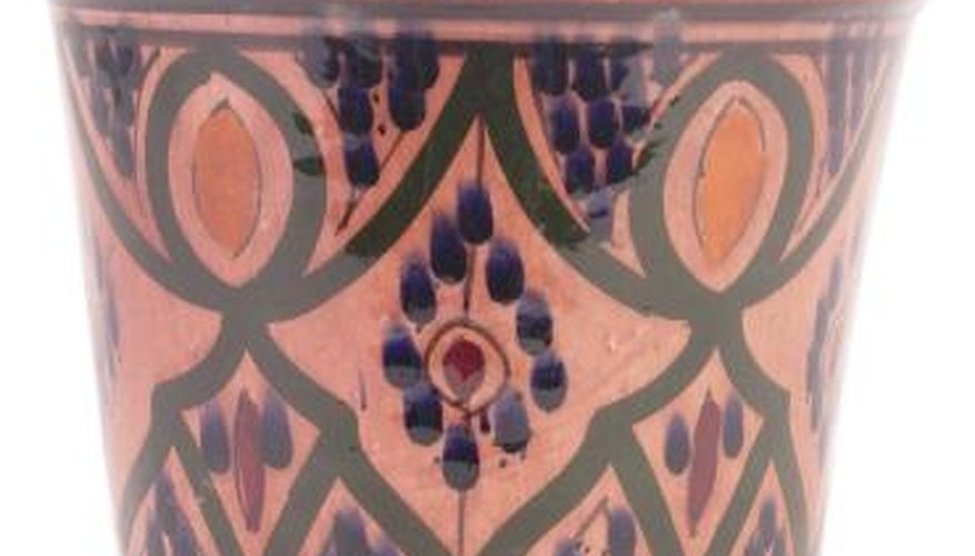 Ceramic glazes are made from minerals.