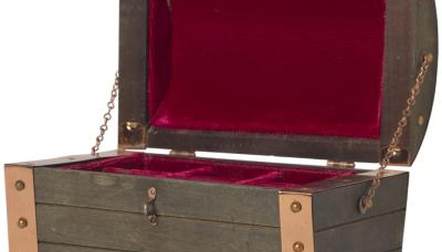 Take a cue from velvet lined jewelry boxes to create a nesting spot for breakable valuables.