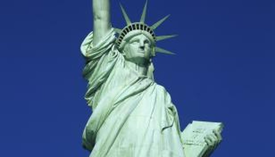 Corrosion occurred between iron supports and copper sheathing on Lady Liberty.