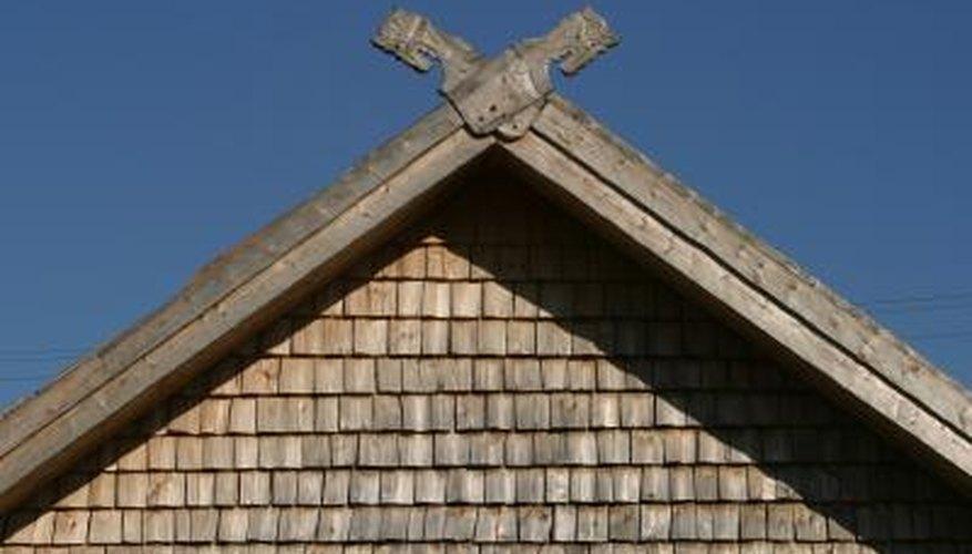 Gables form triangular walls.