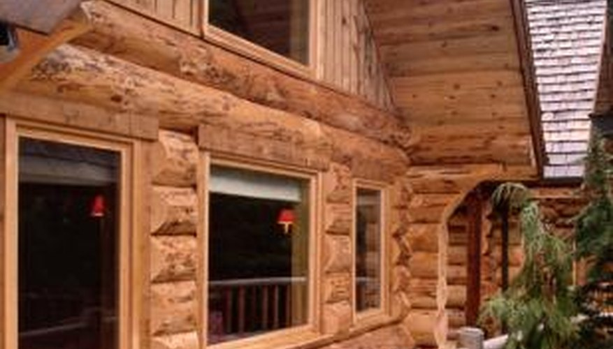 Log homes are often popular in mountainous regions where timber is readily available.
