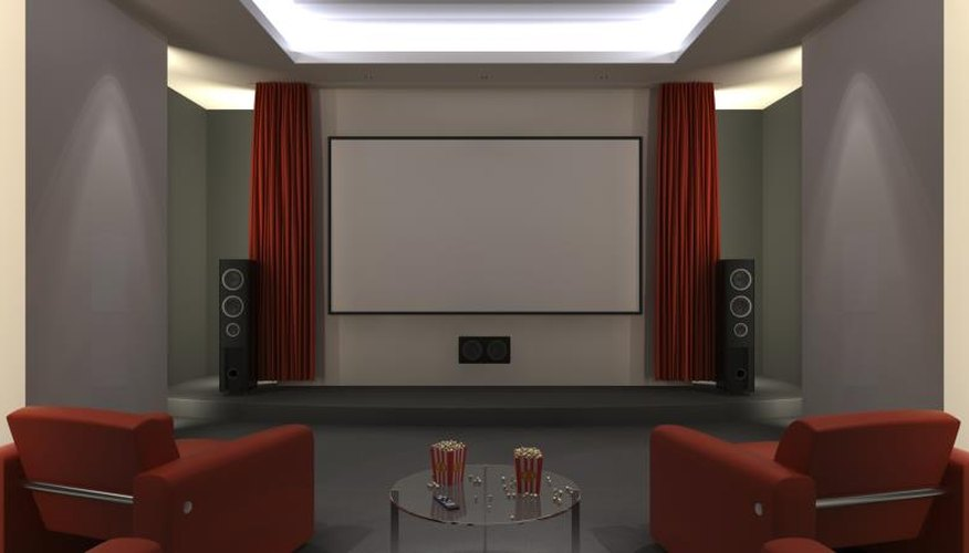 A home theatre system.
