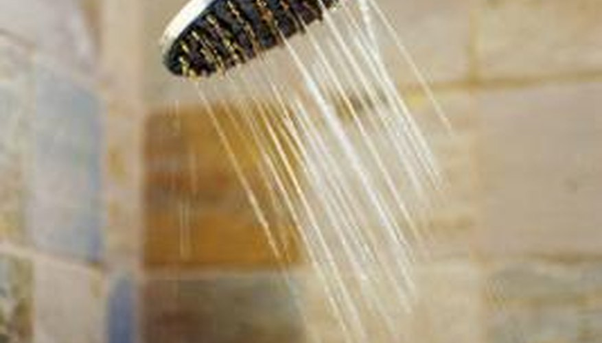 Shower head height is one factor in determining the shower height.