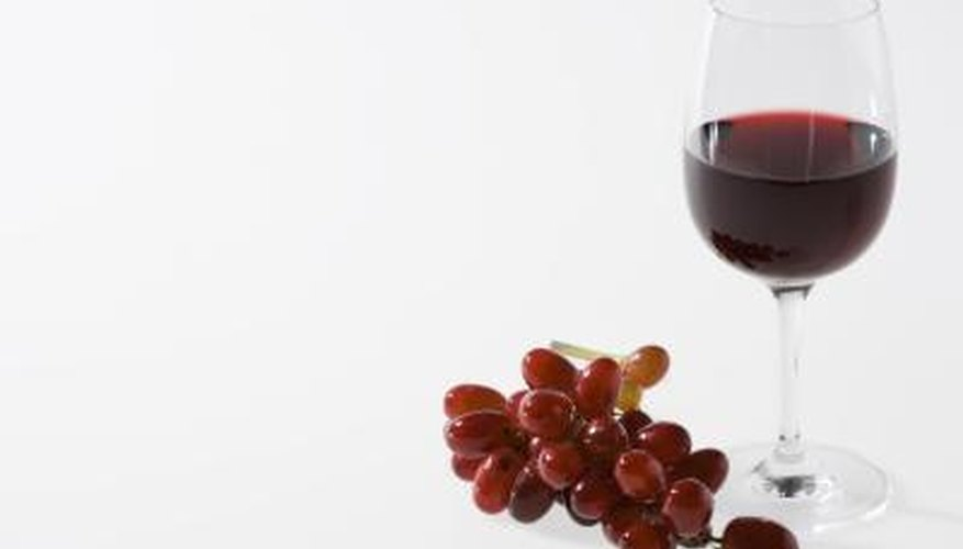 Red wine is made from fermented red grapes.
