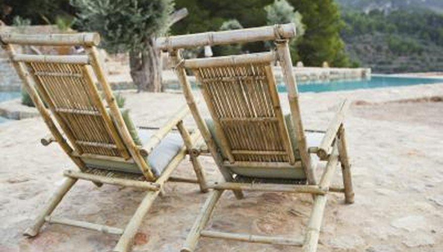 Once Repainted, Old Bamboo Furniture Is Good For Outdoor Seating.