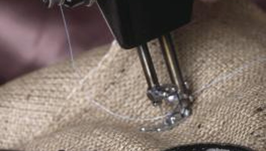 Burlap fabrics could give your classic chairs a rustic finish.