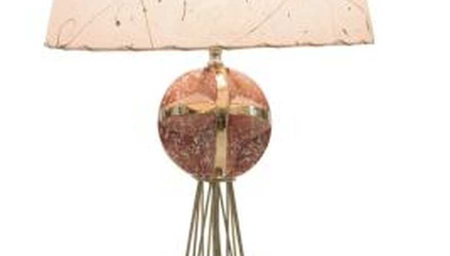 Vintage fiberglass lamp shades require careful cleaning.