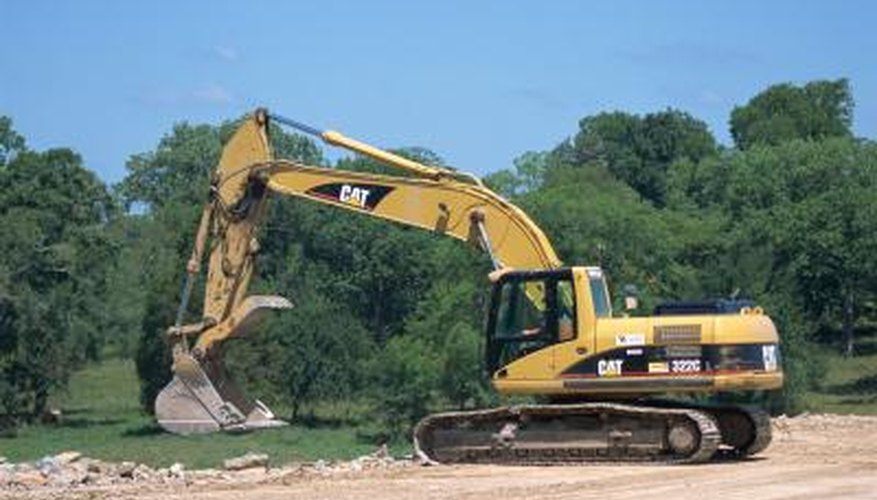 Repair excavators on site to continue construction work.