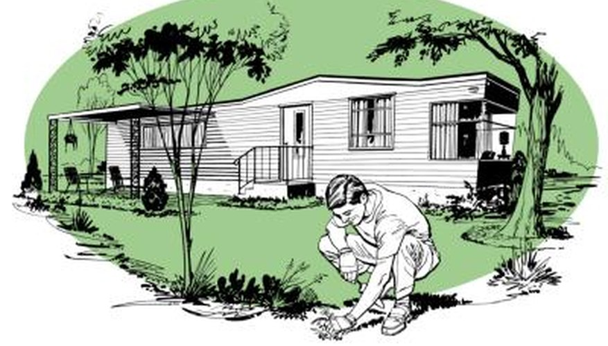 Mobile homes must be tied-down to protect them from storm winds.
