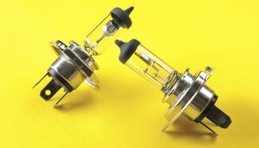 Halogen bulbs come in many different shapes, sizes and wattages.