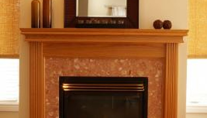 A new surround updates a fireplace.