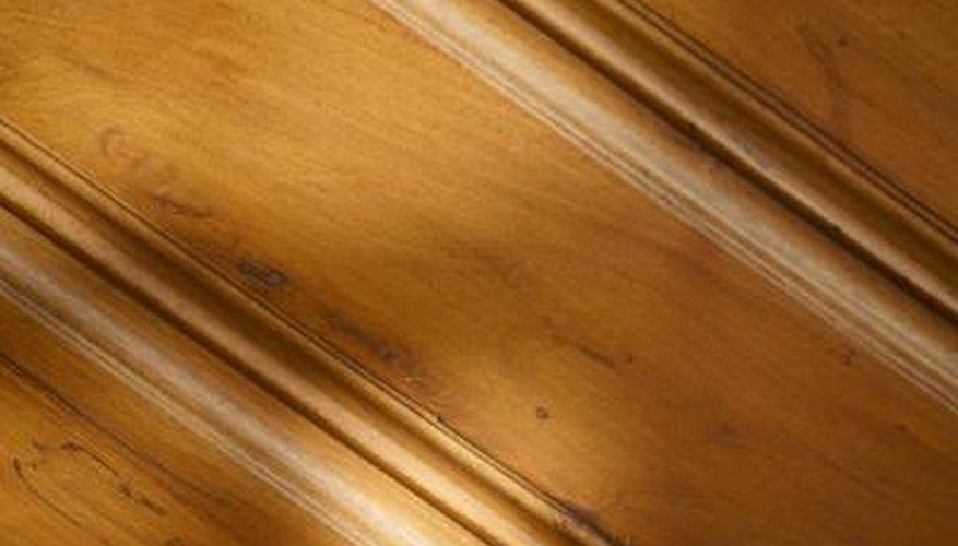 Keep oak baseboards clean to maintain shine.
