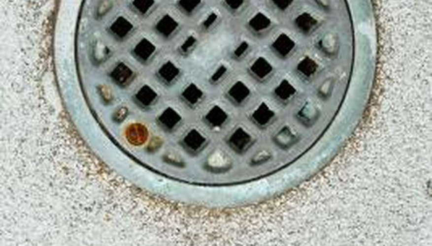 Sewer gas can vent back up through a floor drain.