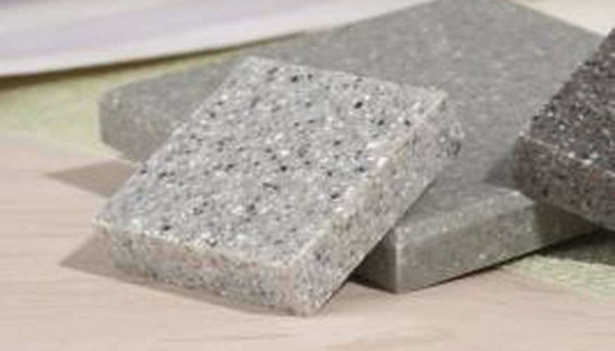 Granite tiles come in a variety of colors.