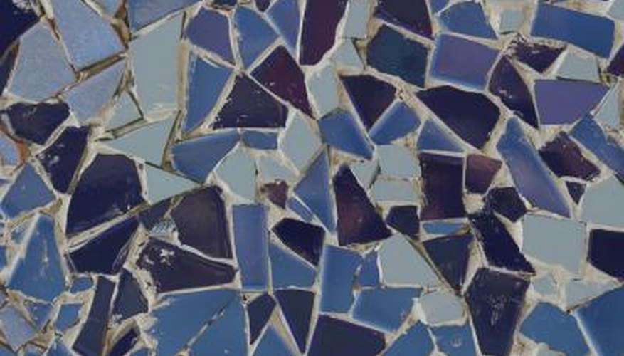 Make your own mosaic countertops using basic hardware supplies.