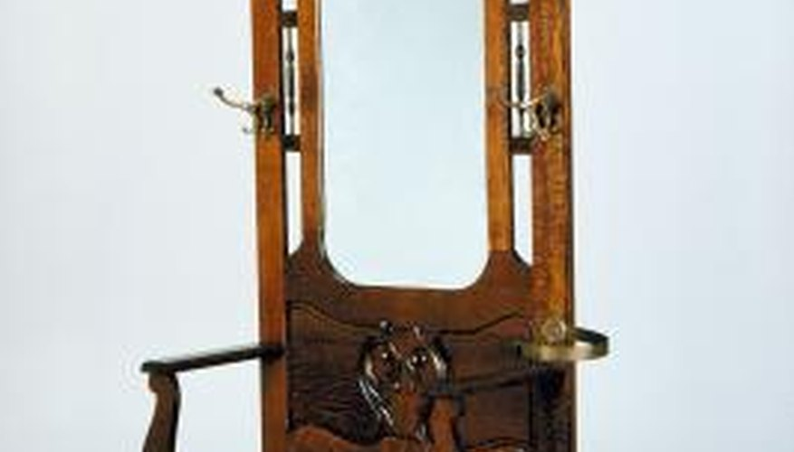 Don't fill holes on antiques without consulting an antique refinisher.