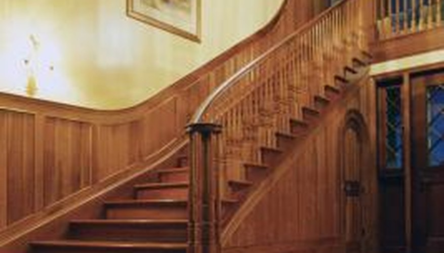 A skirtboard adds decorative detail to the stairway.
