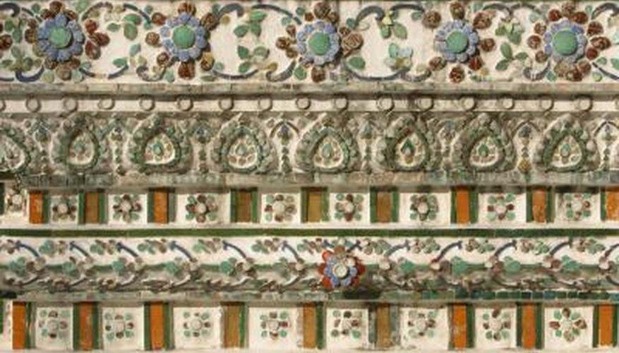 Add a unique design element with decorative wall tiles.