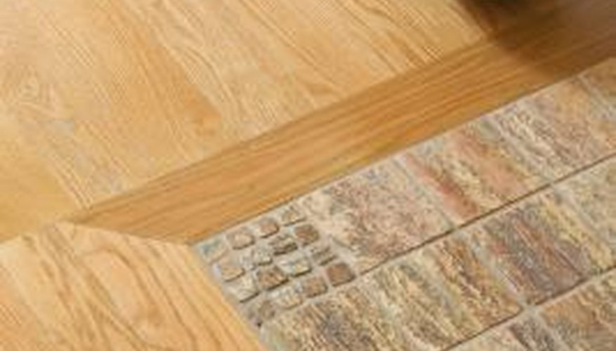 Saddles improve the transition between tile and wood floors.
