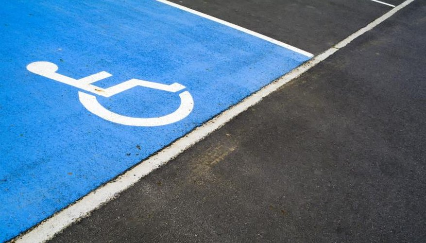 A handicapped parking space.