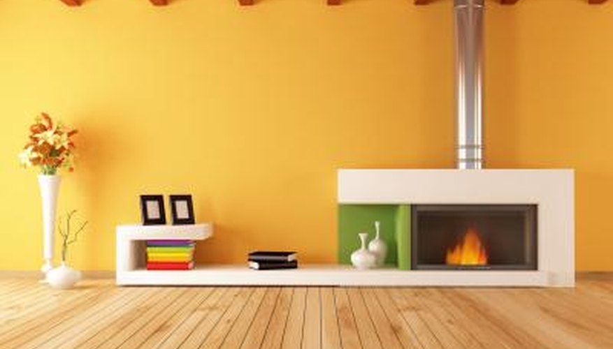 Modern fireplace display