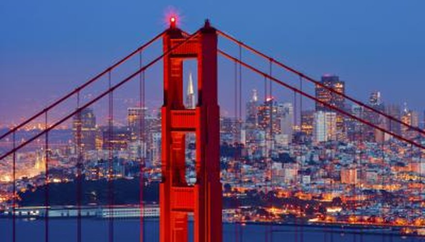 The City by the Bay sparkles at dusk.