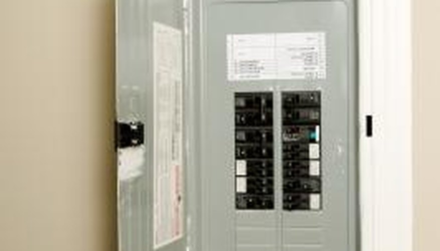Some electrical panels are recessed, while others are wall-mounted.