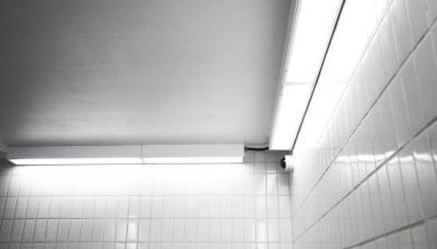 Resurface subway tiles with enamel paint.