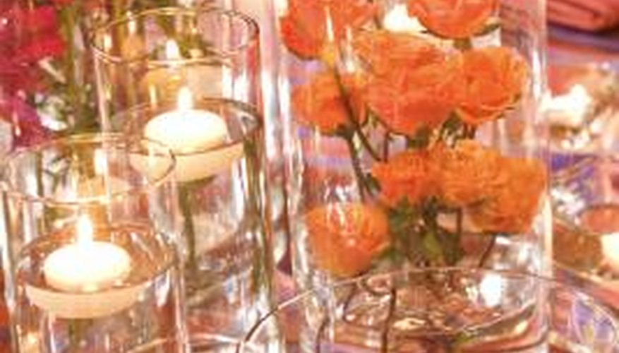 Add flowers to your centerpiece for a fresh fragrance.