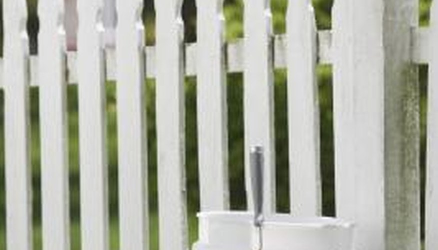 Use lime wash on a variety of surfaces, including fencing and furniture.