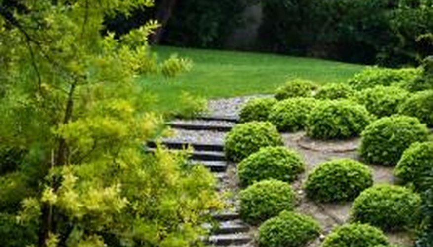 Instead of stairs, use inexpensive pavers to create a pathway up your hill.
