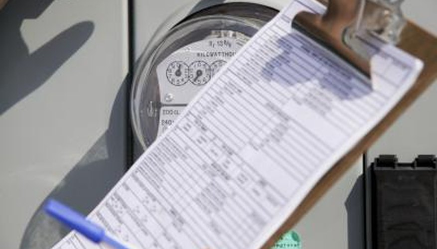 Utility meters and checklist