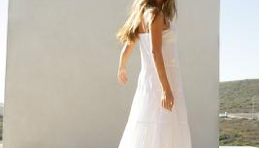 A white sundress is feminine and alluring.