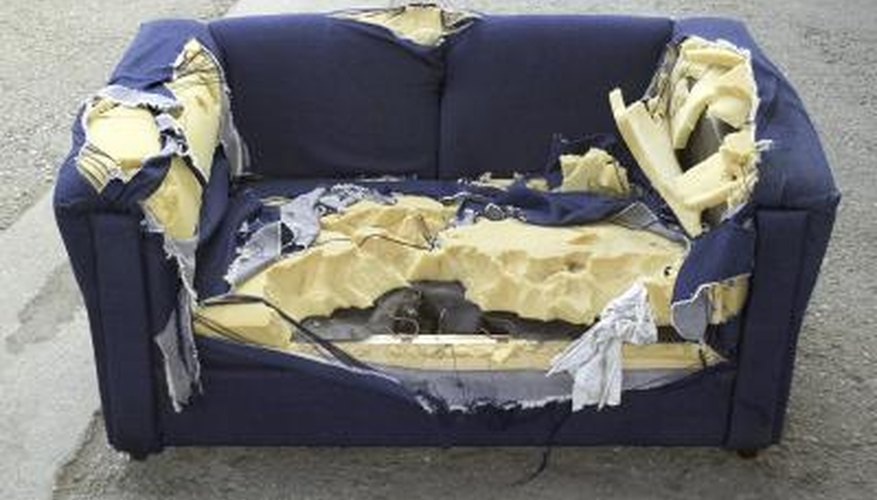 If your couch has seen better days, give it new life with a simple DIY slipcover.